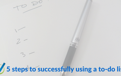 5 steps to successfully using a to-do list