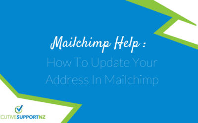Mailchimp Help: How to Update Your Address in Mailchimp
